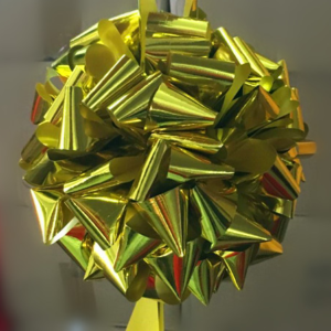 剪綵金色花球