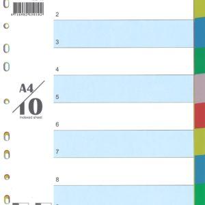 ALPHA OMEGA #PPD-10C (10 COLOR) INDEX