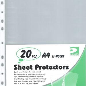 DATA BANK NO.1180-A4 SHEET PROTECTORS (20 PCS)