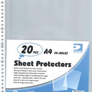 DATA BANK NO.2950-A4 SHEET PROTECTORS (20PCS)