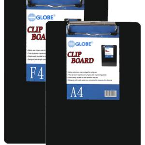 GLOBE GB-320 A4 黑色膠單板夾