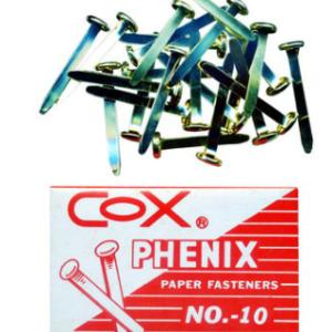 COX NO. 10 PHENIX PAPER FASTERNERS 雙腳釘 (100 PCS)