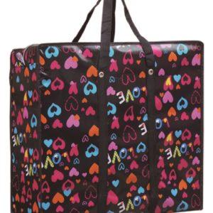 大環保袋 (心型圖案-80 x 65 x 25cm)