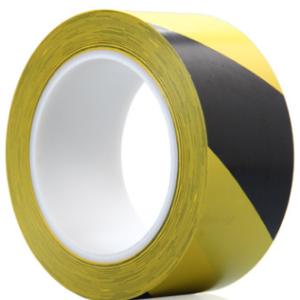2吋 黃 黑 警示地板膠紙