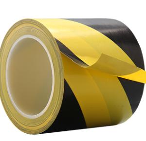 3吋 黃 黑 警示地板膠紙