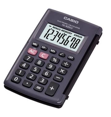 CASIO 計數機 (袋裝 迷你) HL-820LV-BK