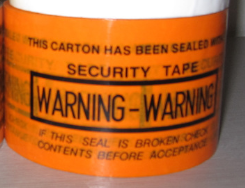 WARNING 60mm 封箱膠紙 (橙色)