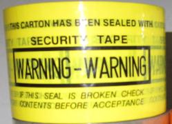 WARNING 60mm 封箱膠紙 (黃色)