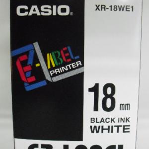 Casio 18mm XR-18WE1 Label Tape