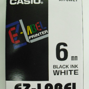 Casio 6mm XR-6WE1 Label Tape