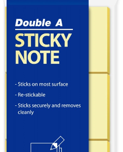 Double A RN03201-EN STICKY NOTE 黃色便條紙(38mm x 51mm)