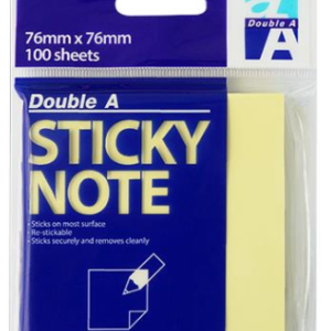 Double A RN18201-EN STICKY NOTE 黃色便條紙(76mm x 76mm)
