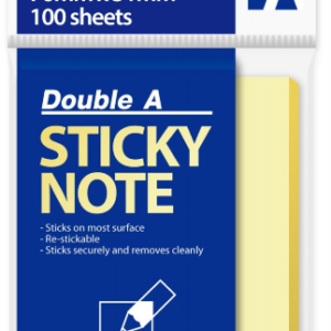 Double A STICKY NOTE 黃色便條紙(76mm x 51mm)