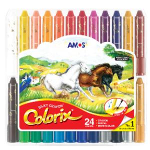 AMOS 韓國 無毒神奇水臘筆 (無毒蠟筆) – 24色