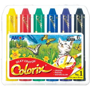 AMOS 韓國 無毒神奇水臘筆 (無毒蠟筆) – 6色