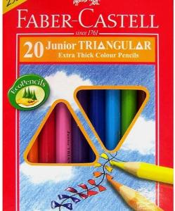 FABER CASTELL 16-116538-20 粗 三角形木顏色 - 20色
