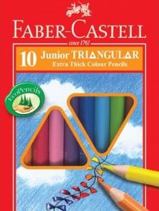 FABER CASTELL NO. 16-116538-10 粗三角形木顏色 - 10色
