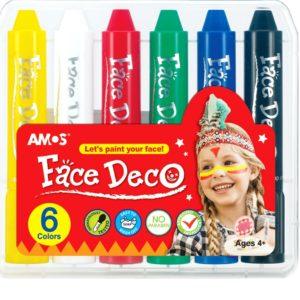 FD5PC6 face deco 6 colors plastic box